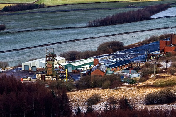 A disused coal mine.