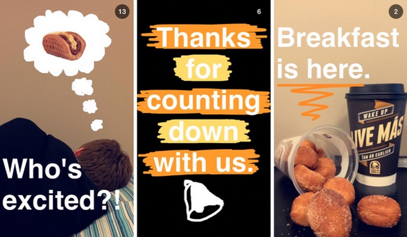 Taco Bell Snapchat campaign